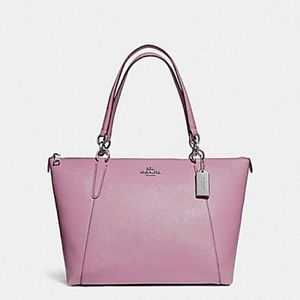NWT Coach ave tote lilac glitter with wallet